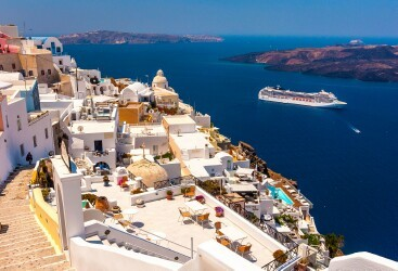 Port of Santorini (Thira), Greece