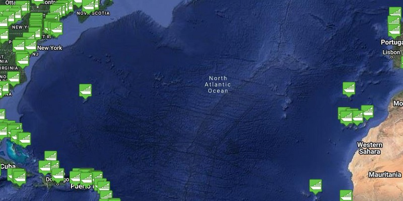 Atlantic Ocean Region Cruise Port Tracker