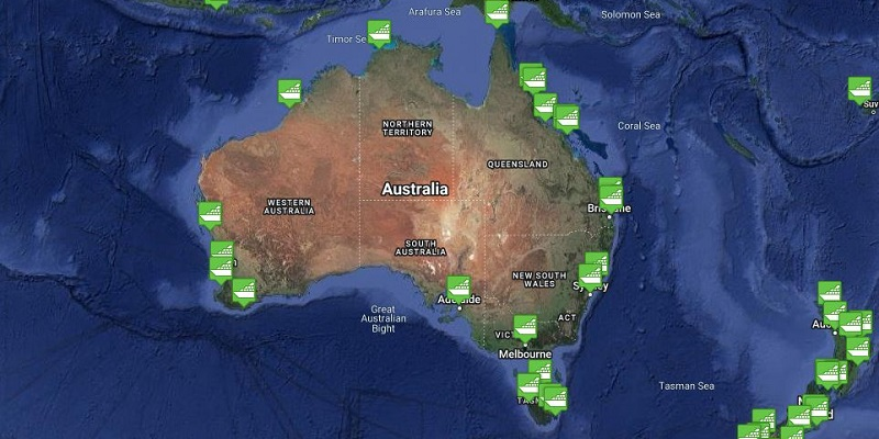 Australian Region Cruise Port Tracker