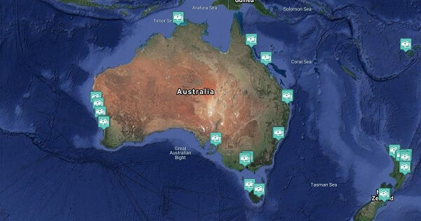 Australian Cruise Region Webcams - Cruise Port / Beach / Destination Cameras (Live)