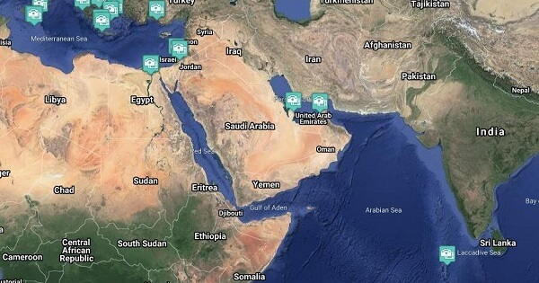 Middle Eastern Cruise Region Webcams - Cruise Port / Beach / Destination Cameras (Live)