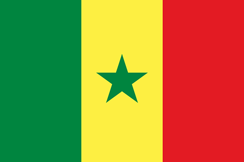 Senegal Cruise Port Country Flag