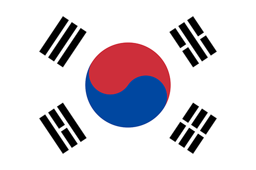 South Korea Cruise Port Country Flag