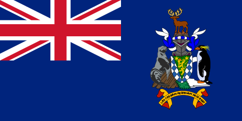 South Georgia Island Cruise Port Country Flag