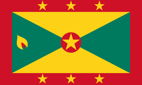 Grenada Cruise Port Country Flag