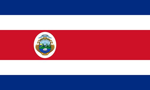 Costa Rica Cruise Port Country Flag
